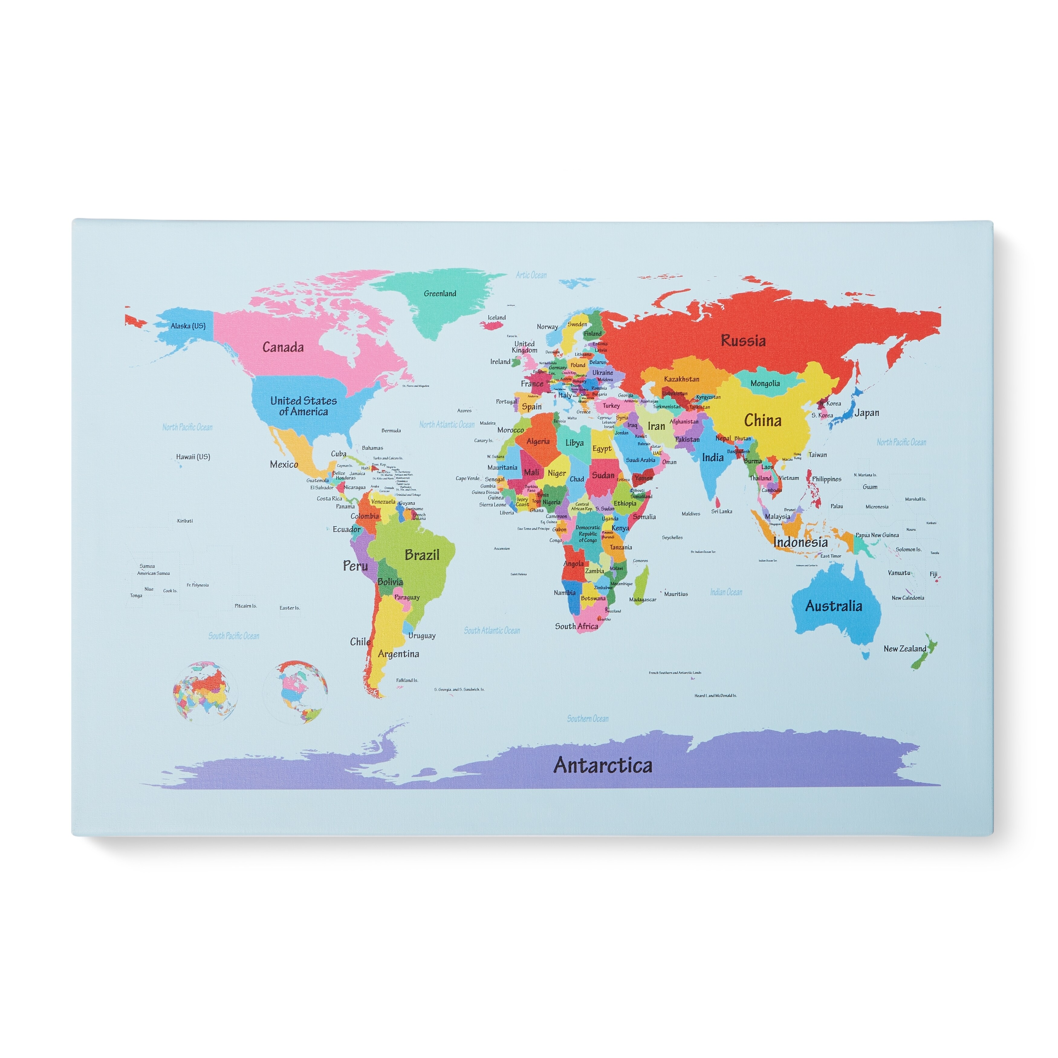 Childrens multi colored world map canvas art multi free childrens multi colored world map canvas art multi free shipping today overstock 15467367 gumiabroncs Images