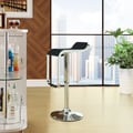 LEM Black Vinyl Bar Stool (Set of 2)