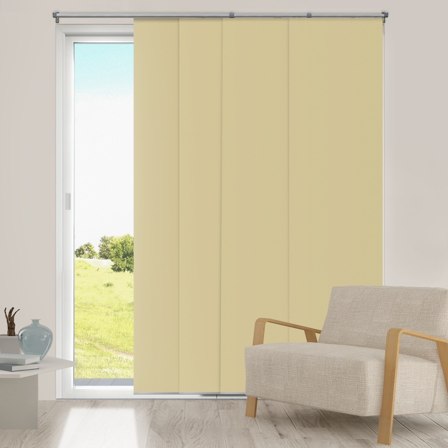 Shop Chicology Adjustable Sliding Panel, Fabric - Thermal, Room ...