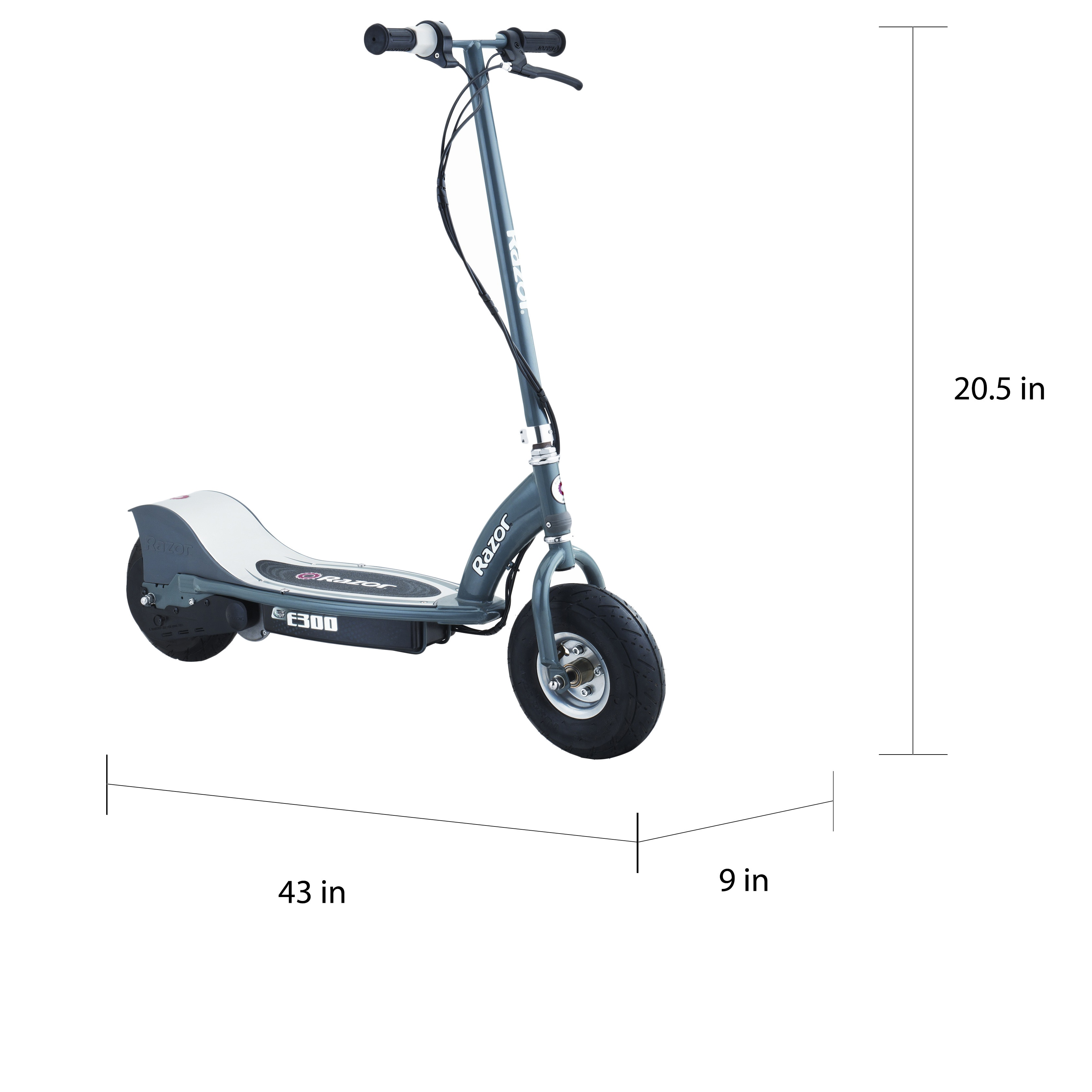 Shop Razor E300 Grey Plastic Electric Scooter - Ships To Canada - Overstock - 8124124
