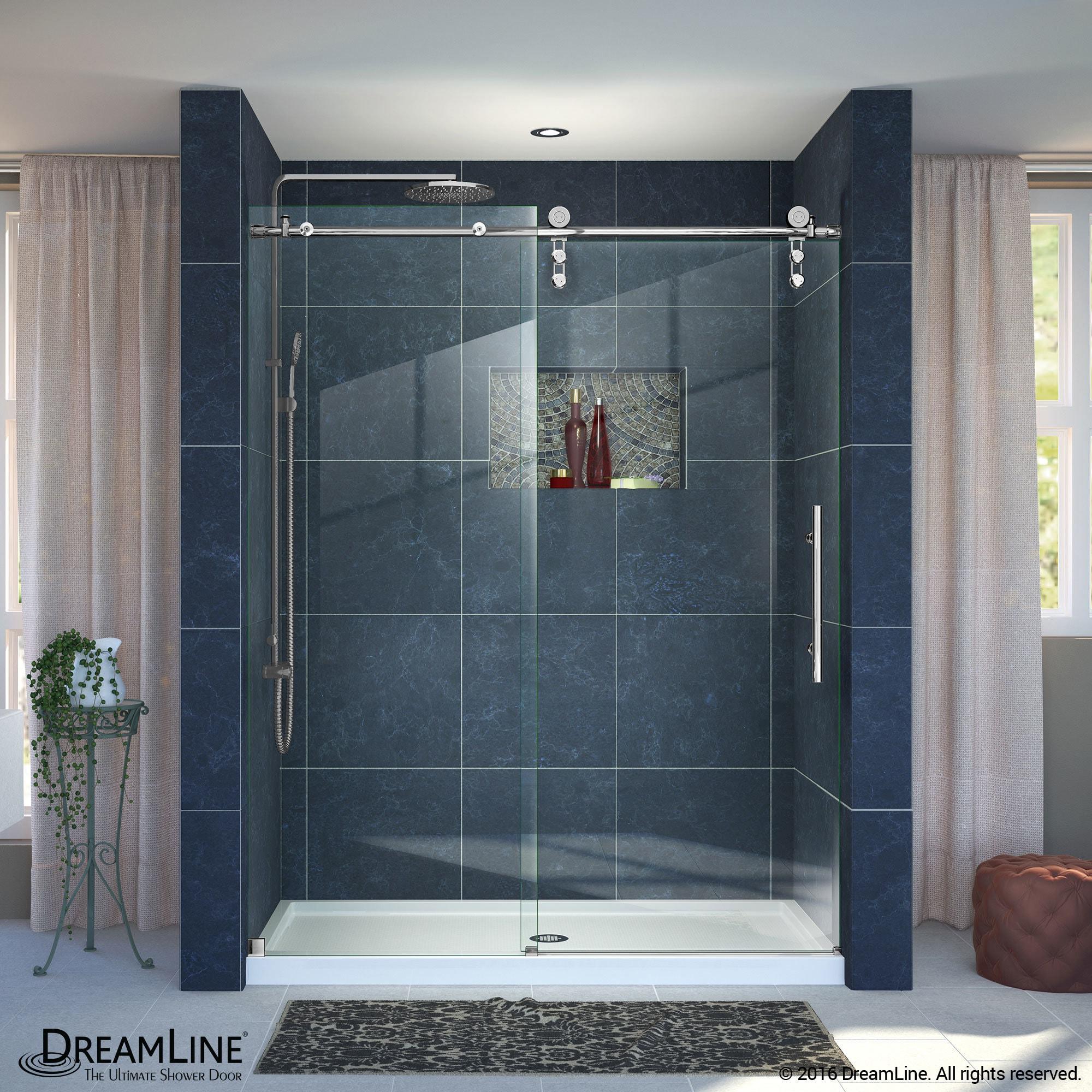 Shop DreamLine Enigma-Z Fully Frameless Sliding Shower Door and ...