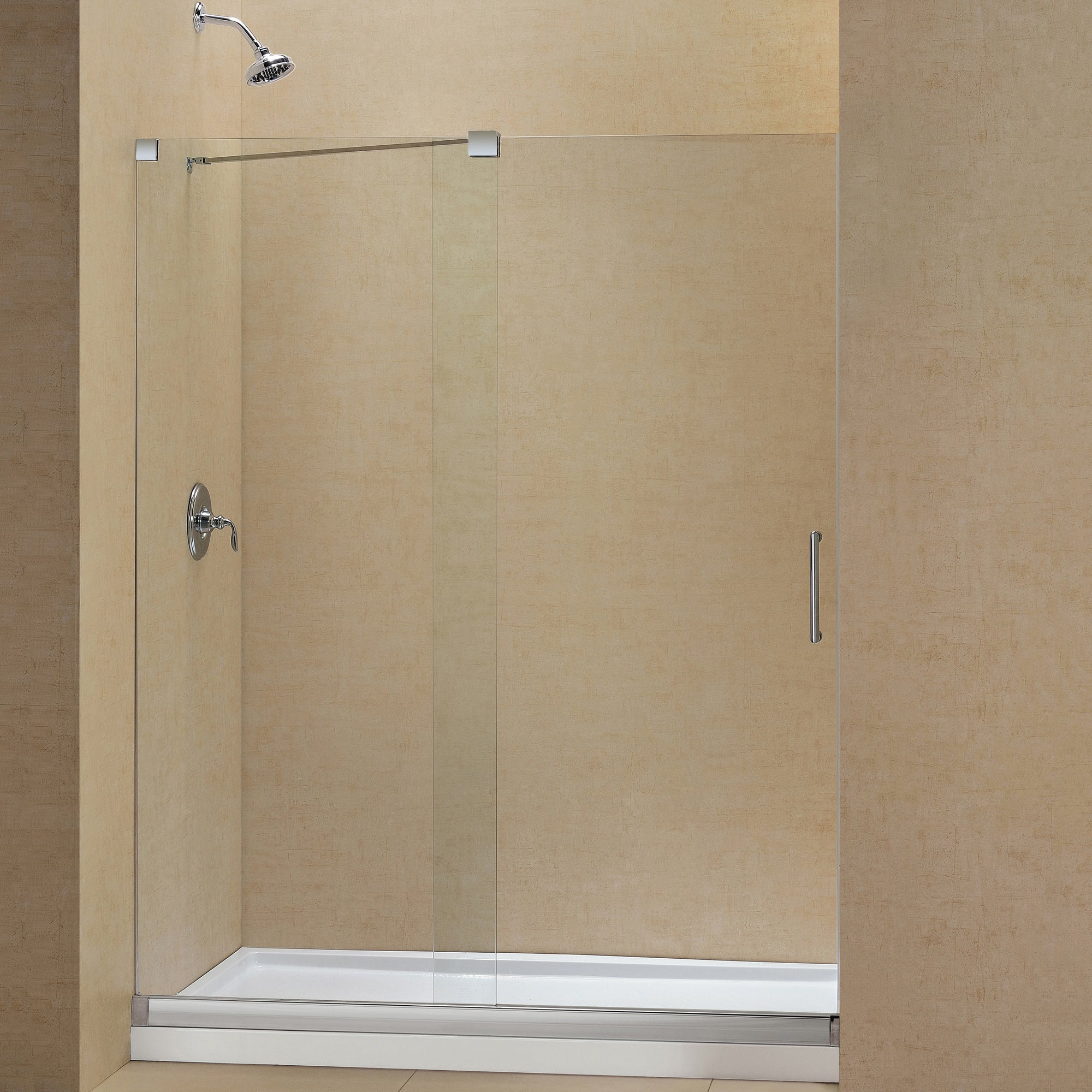 Shop DreamLine Mirage Frameless Sliding Shower Door And SlimLine 30 In. By  60 In. Single Threshold Shower Base   Free Shipping Today   Overstock.com    ...