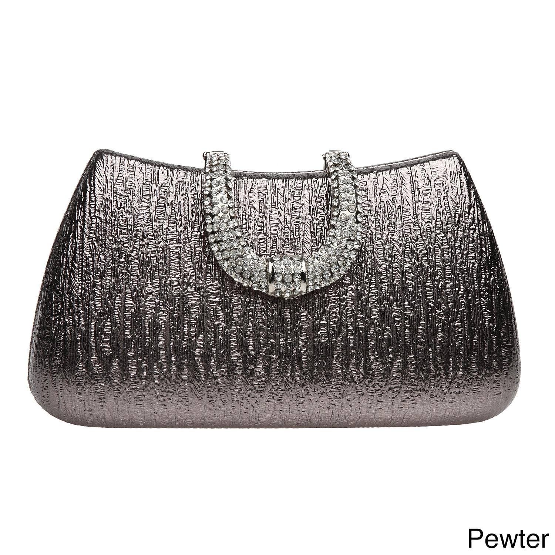 J Furmani Reese Metallic Hardcase Evening Bag Free Shipping Today 8129362