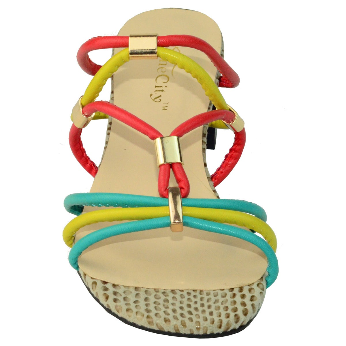 a152a658e2022 Shop Ann Creek Women s  Delray  Colorful Strappy Sandals - On Sale - Free  Shipping Today - Overstock.com - 8133881