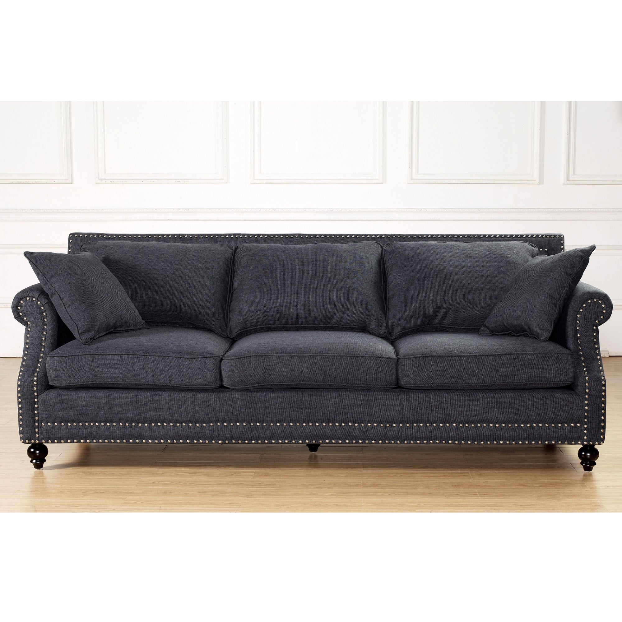 Merveilleux Shop Camden Grey Linen Sofa   Free Shipping Today   Overstock.com   8136734