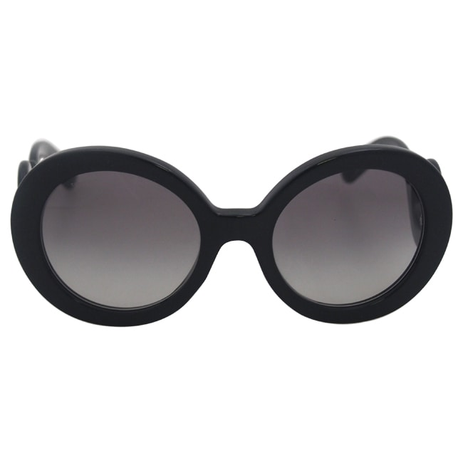 198d746234 Shop Prada Women s PR 27NS Black Minimal-baroque Round Sunglasses - Free  Shipping Today - Overstock - 8140595