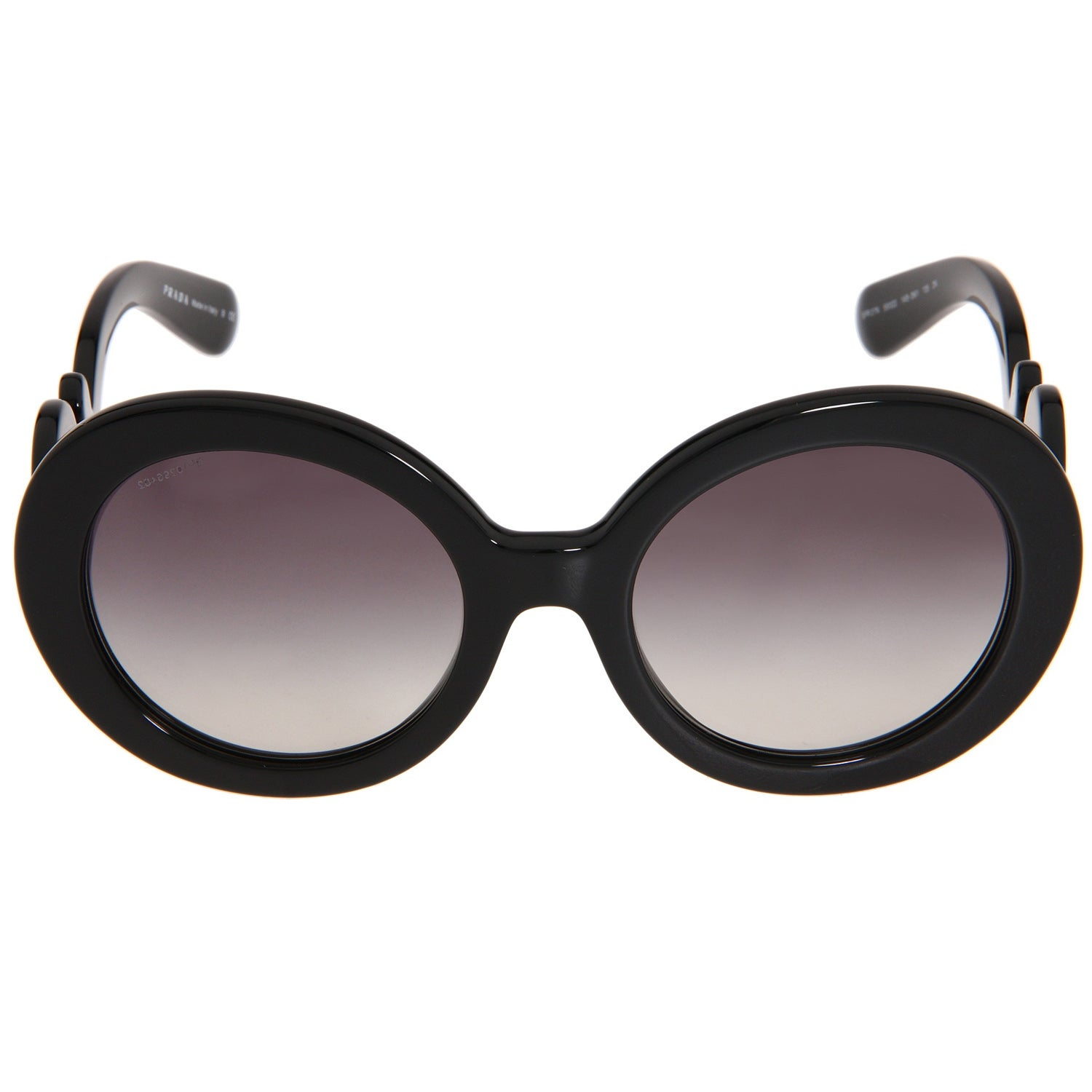 831d376d312f closeout shop prada womens pr 27ns black minimal baroque round sunglasses  free shipping today overstock 8140595