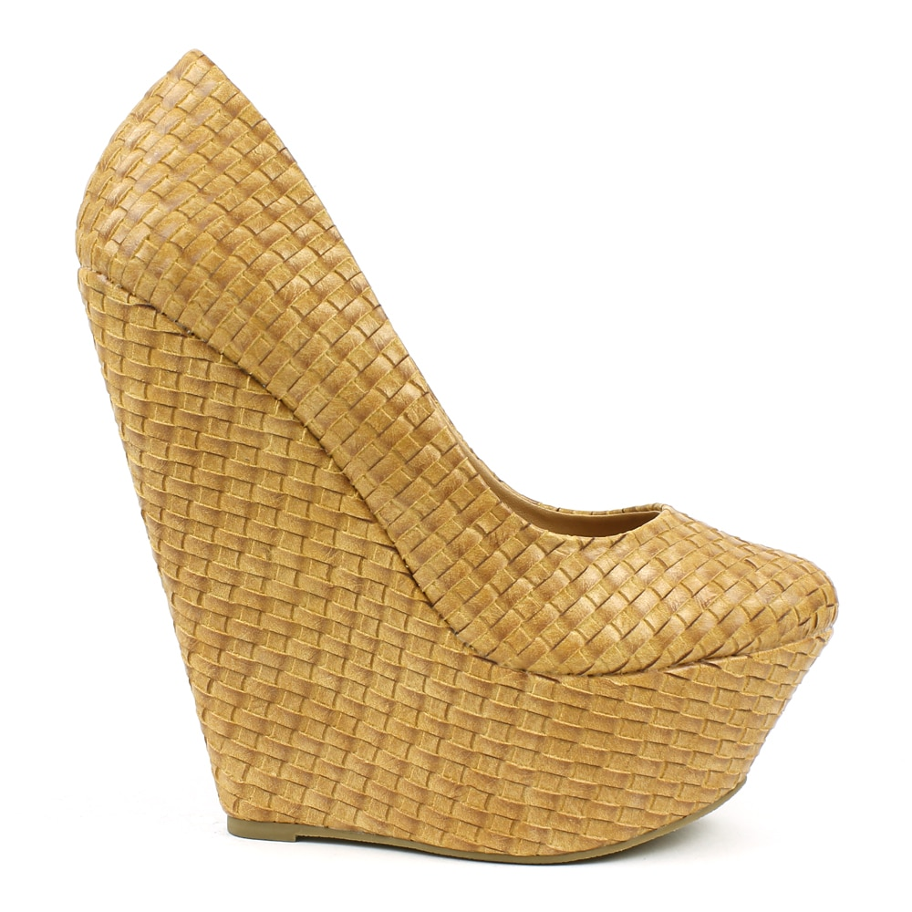 949da6b7ea8 Shop Fahrenheit Women s  Adrianne-01  Woven Pointed-toe Wedges - Free  Shipping On Orders Over  45 - Overstock - 8144073