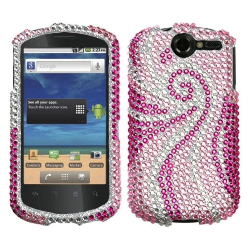 INSTEN Phoenix Tail Diamante Phone Case Cover for Huawei U8800 Impulse 4G