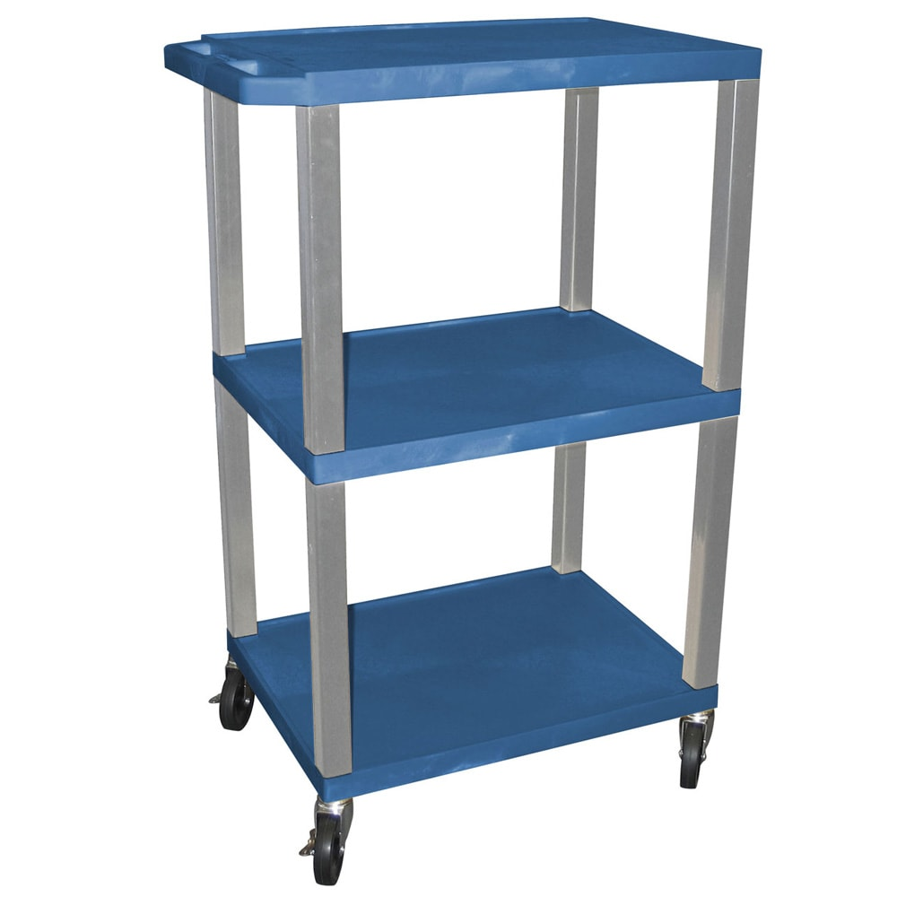 Shop Offex Mobile 42-inch Cart with Storage Shelf, Nickel Legs ...