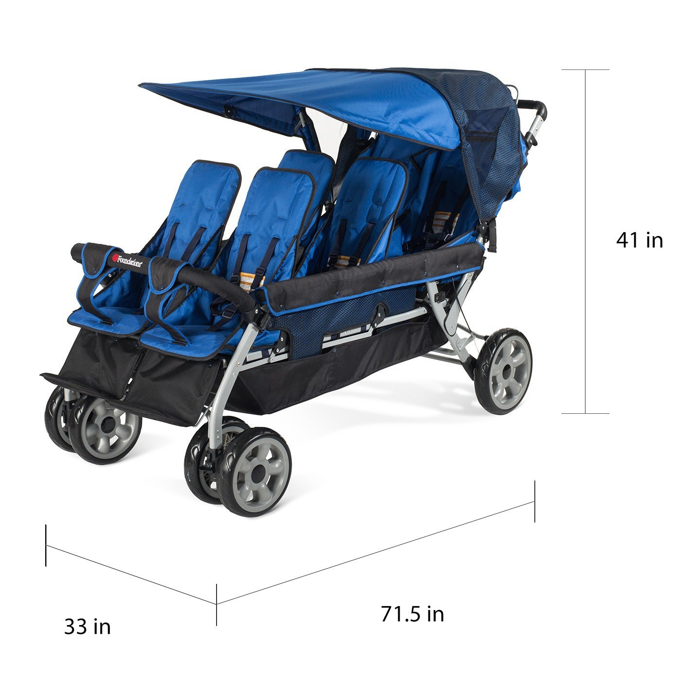 8ba688486c3b Shop Foundations LX6 6-Passenger Stroller - Free Shipping Today ...