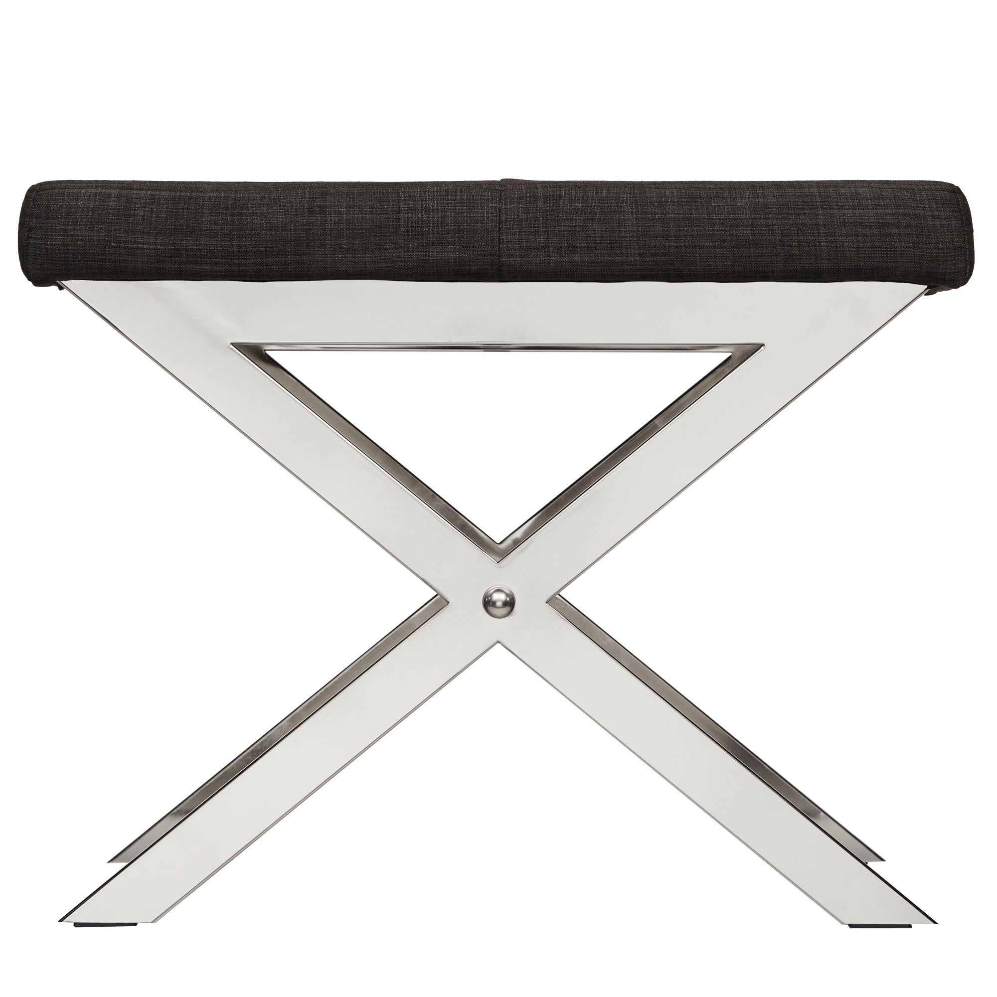 Southport Linen 22-inch Chrome Finish Metal Stool by iNSPIRE Q Bold - Free  Shipping Today - Overstock.com - 15502624