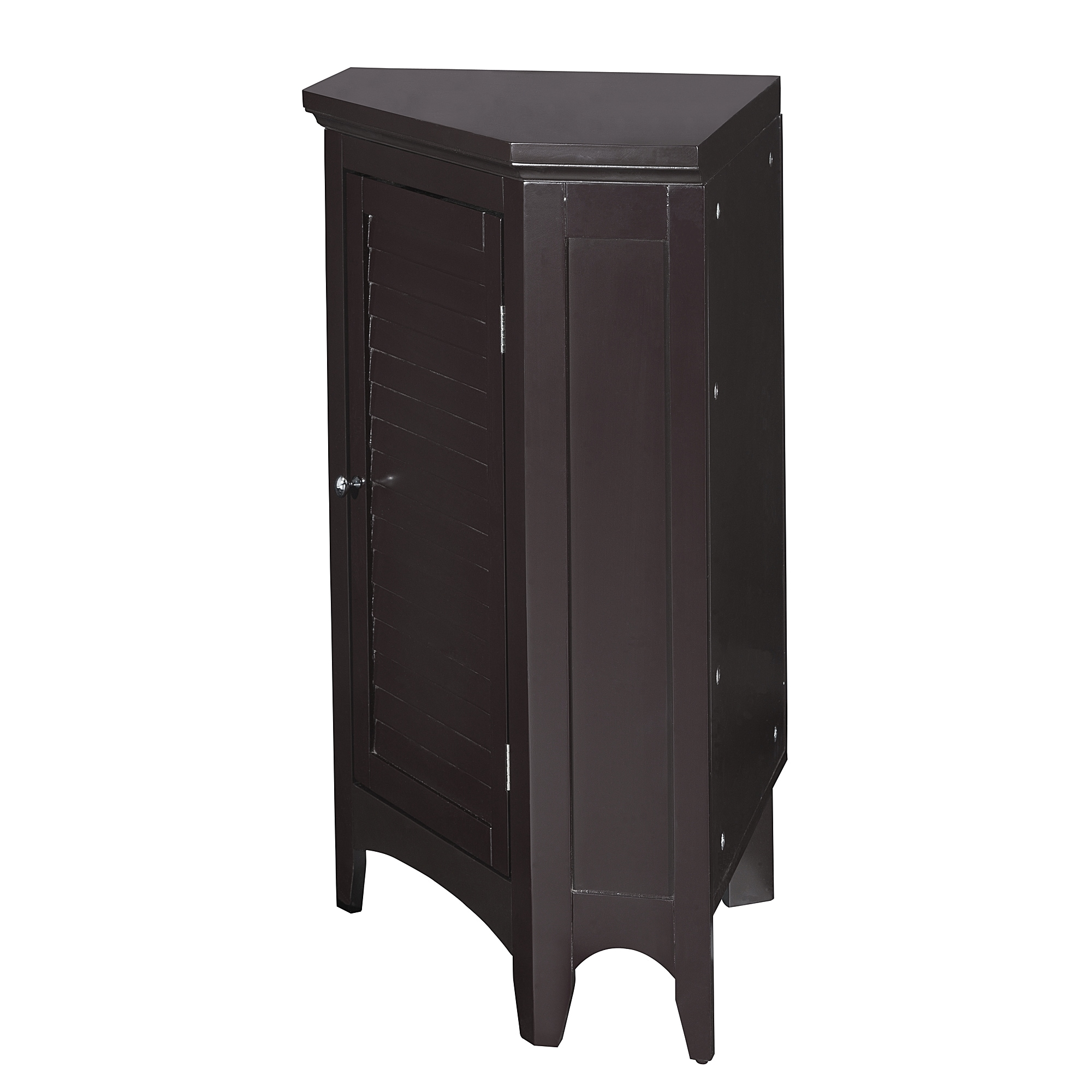Bayfield Espresso Shutter Door Corner Floor Cabinet By Elegant Home Fashions Free Shipping Today 8162302