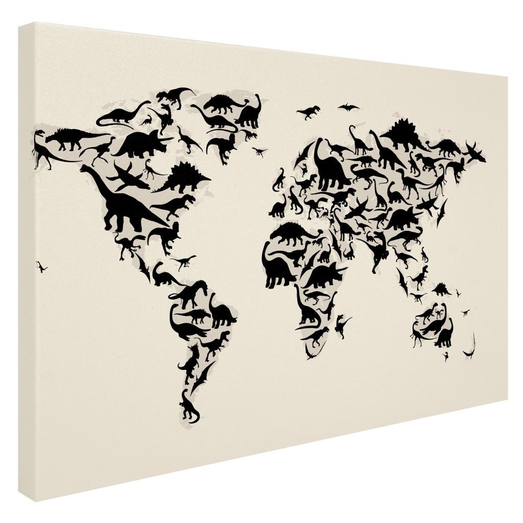 Michael tompsett dinosaur world map canvas art free shipping michael tompsett dinosaur world map canvas art free shipping today overstock 15503426 gumiabroncs Image collections