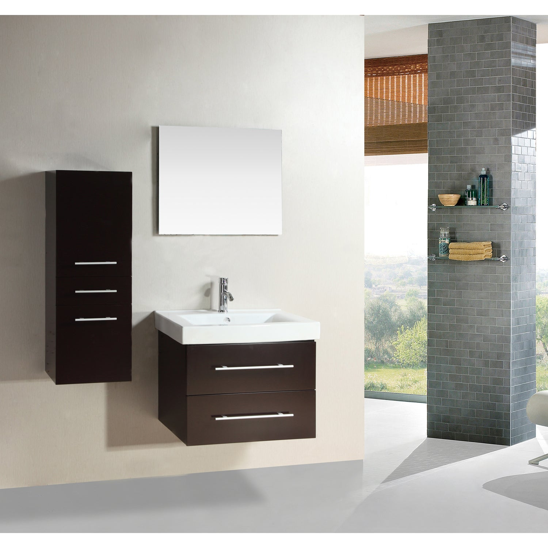 Shop Kokols Wall-mount Floating Bathroom Vanity Set - Free Shipping ...