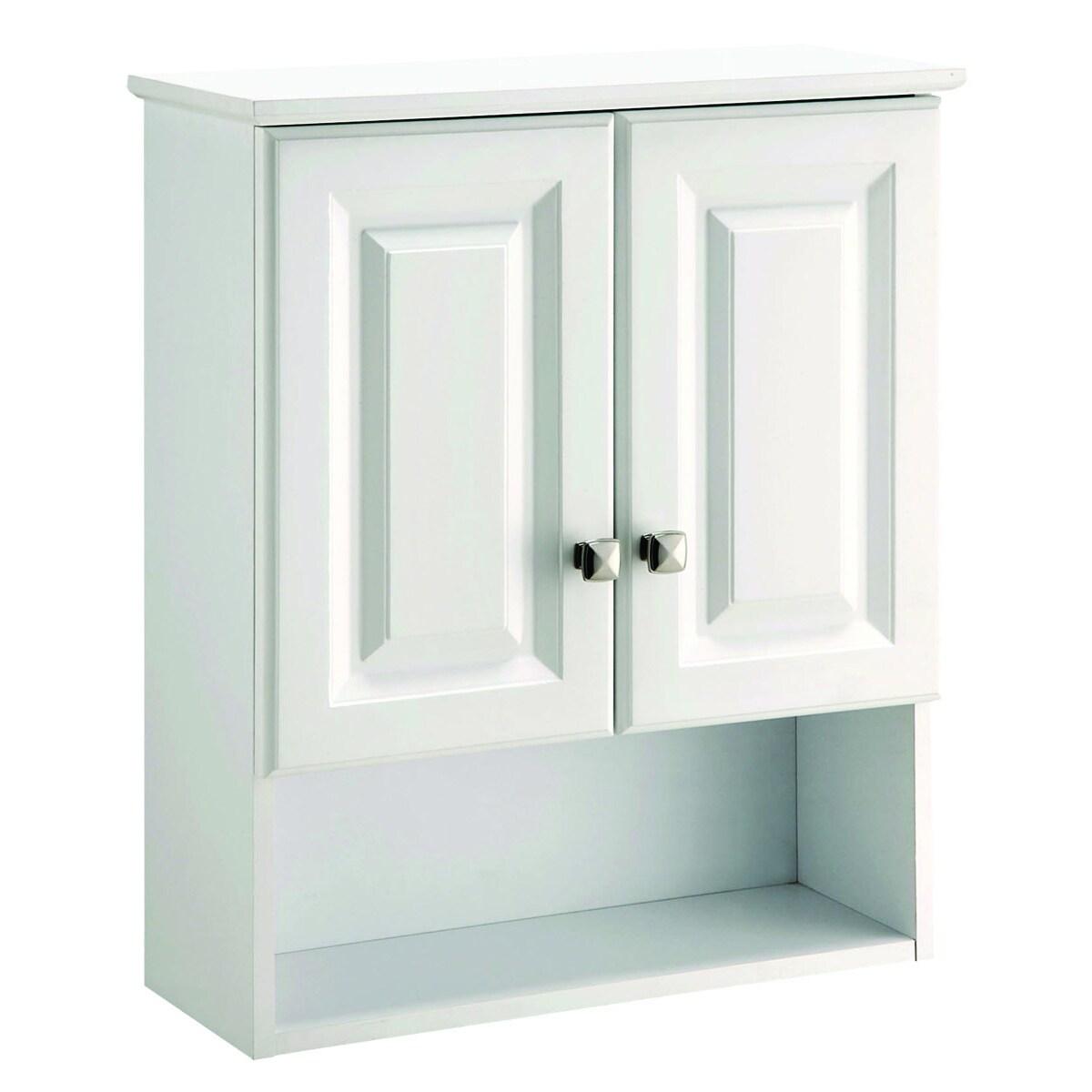 Shop Design House 531715 Wyndham White Semi-gloss Bathroom Wall ...