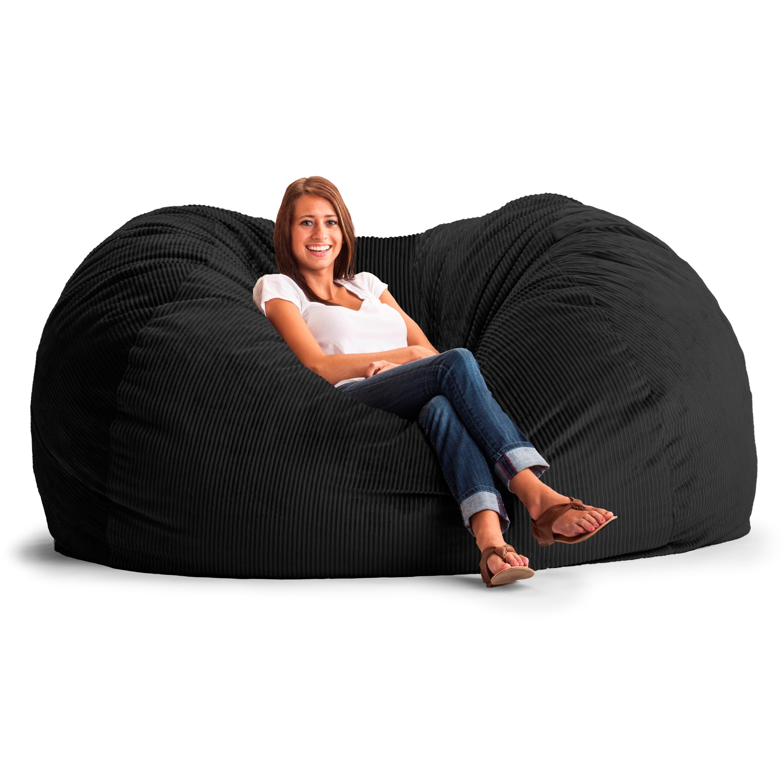 FufSack Wide Wale Corduroy 7 Foot XXL Bean Bag Chair