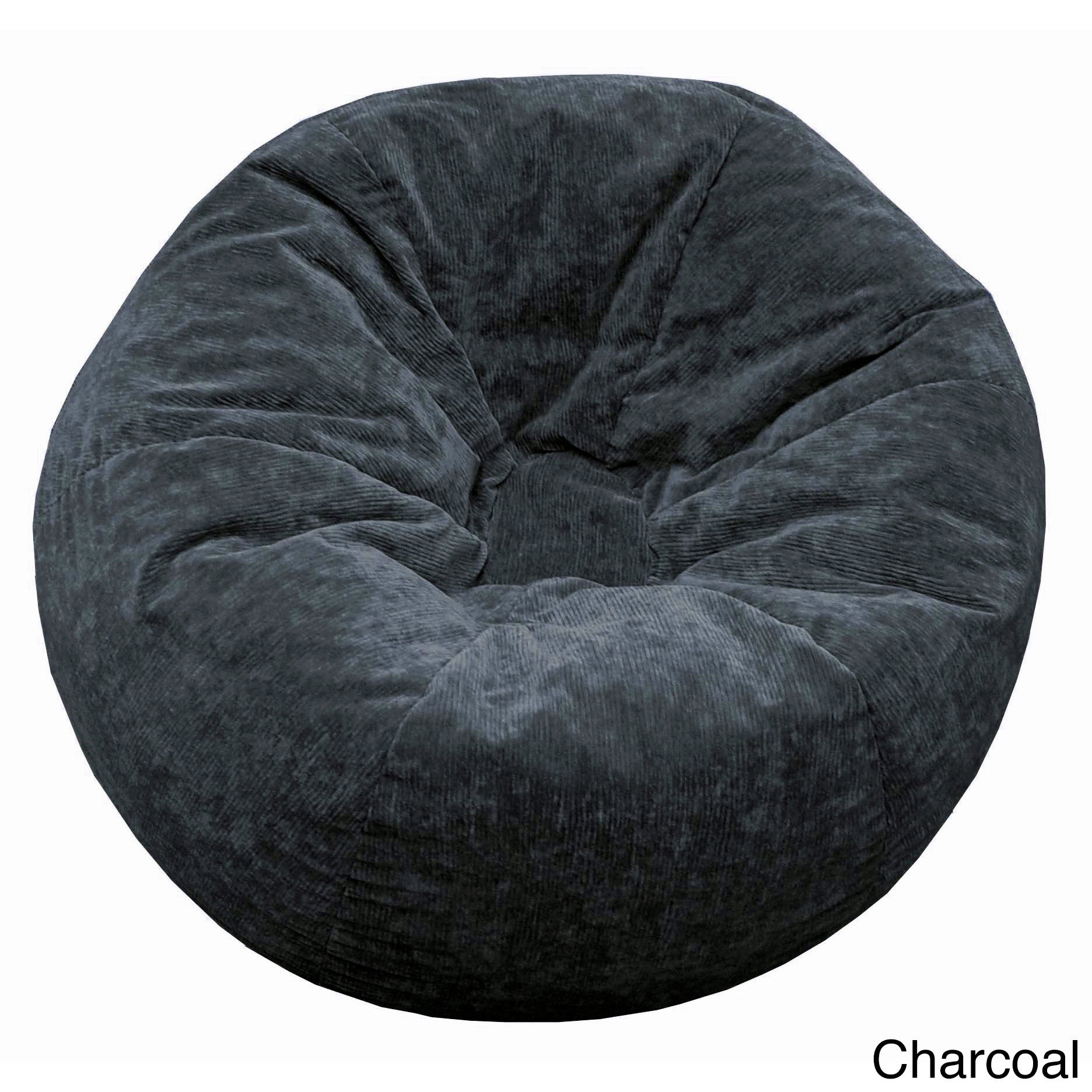 Extra Large Micro Fiber Suede Corduroy Bean Bag   Free Shipping Today    Overstock.com   15506054