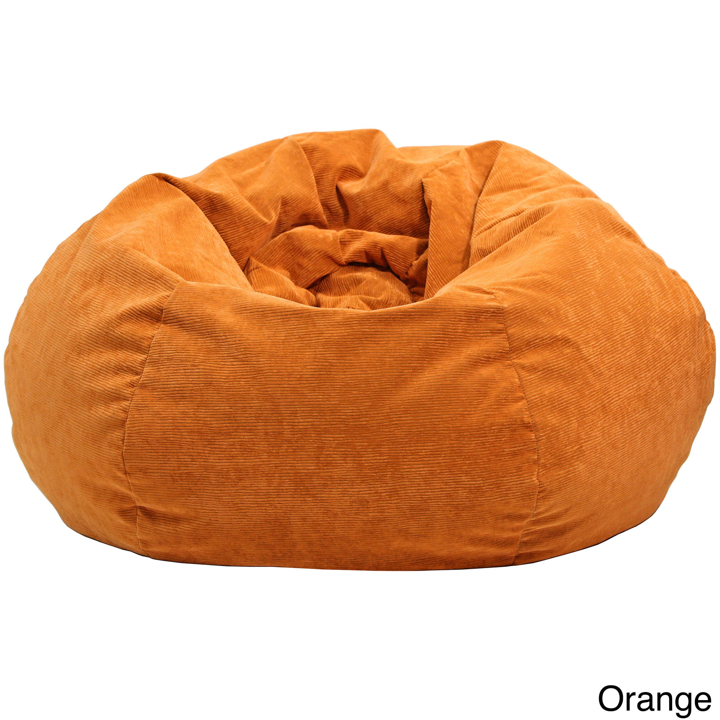 Bon Shop Extra Large Micro Fiber Suede Corduroy Bean Bag   Free Shipping Today    Overstock.com   8166313