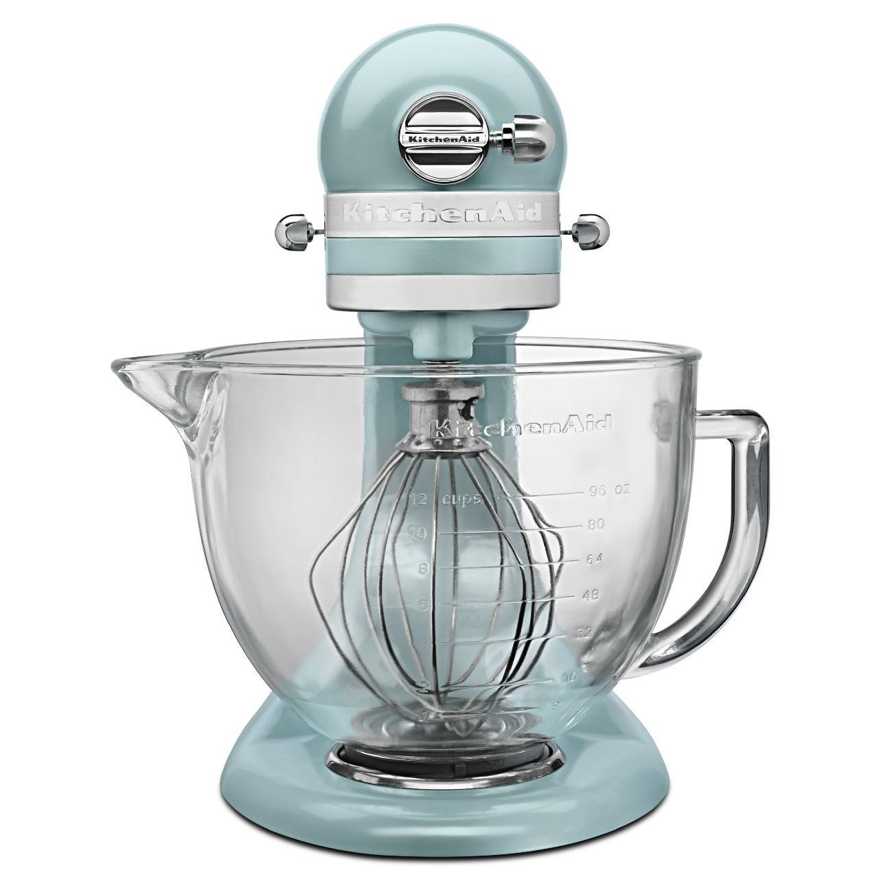 Shop KitchenAid KSM155GBAZ Azure Blue 5-quart Artisan Tilt-head ...