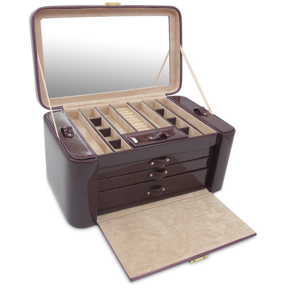 Morelle Co Alexis Leather Large Two Side Pullout Jewelry Box