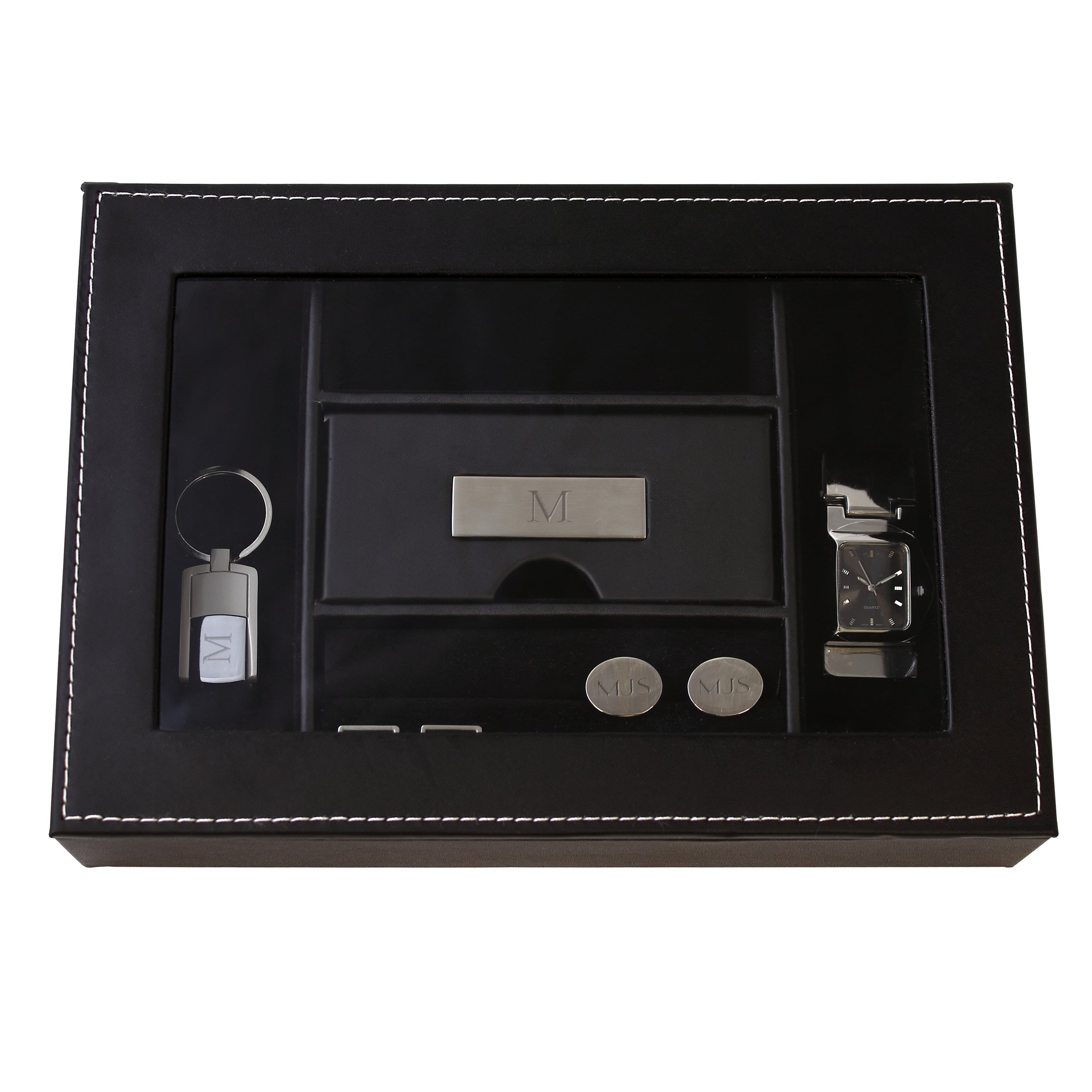 ffa6f0272eed Shop Men s Personalized Valet Box - Free Shipping On Orders Over  45 -  Overstock - 8171848