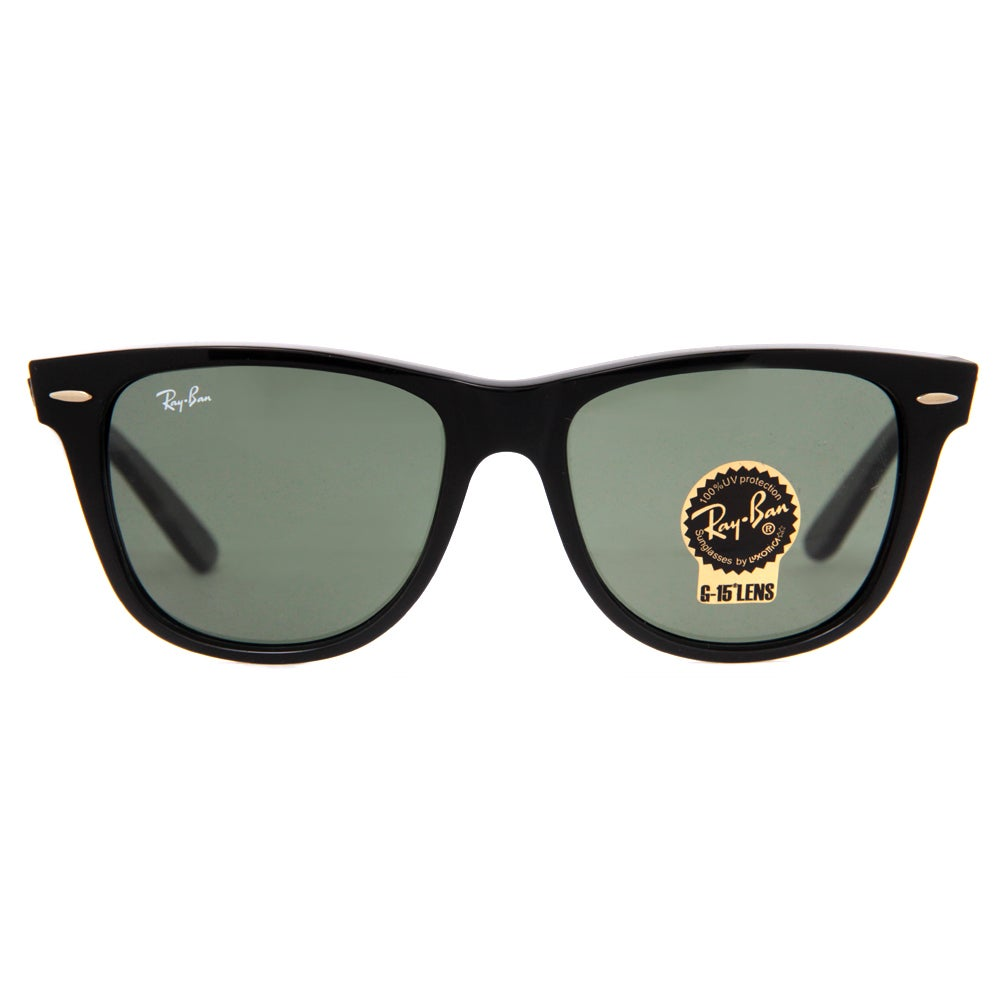9e51beb6c2 Shop Ray Ban Square RB2140 901 54-18 Unisex Black Frame Green Lens  Sunglasses - Free Shipping Today - Overstock - 8171923