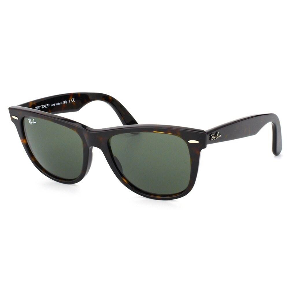 811bedb3613dc Shop Ray-Ban Men s Original Wayfarer Tortoise Sunglasses - Free Shipping  Today - Overstock - 8171958