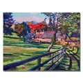 David Lloyd Glover 'Country House' Canvas Art