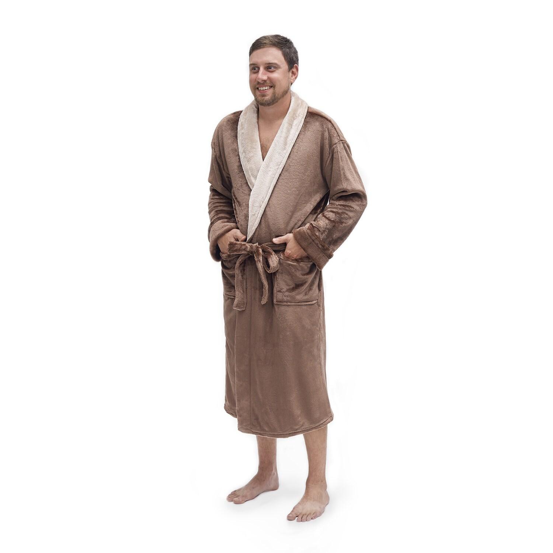 77d7c20eb0 Shop Pipeline Men s Micro Plush Bath Robe - Free Shipping Today - Overstock  - 8175808