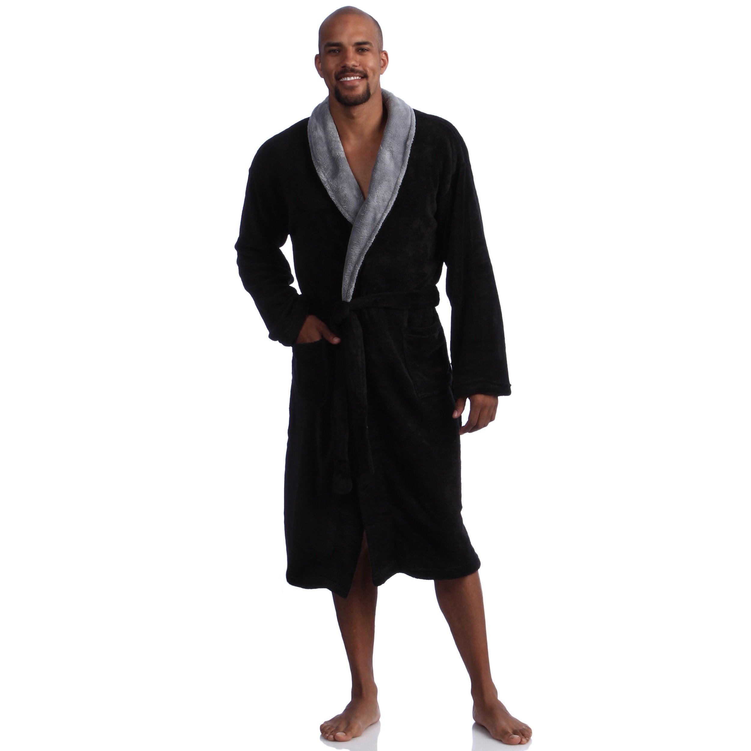 Pipeline Men S Micro Plush Bath Robe On Sale Overstock 8175808