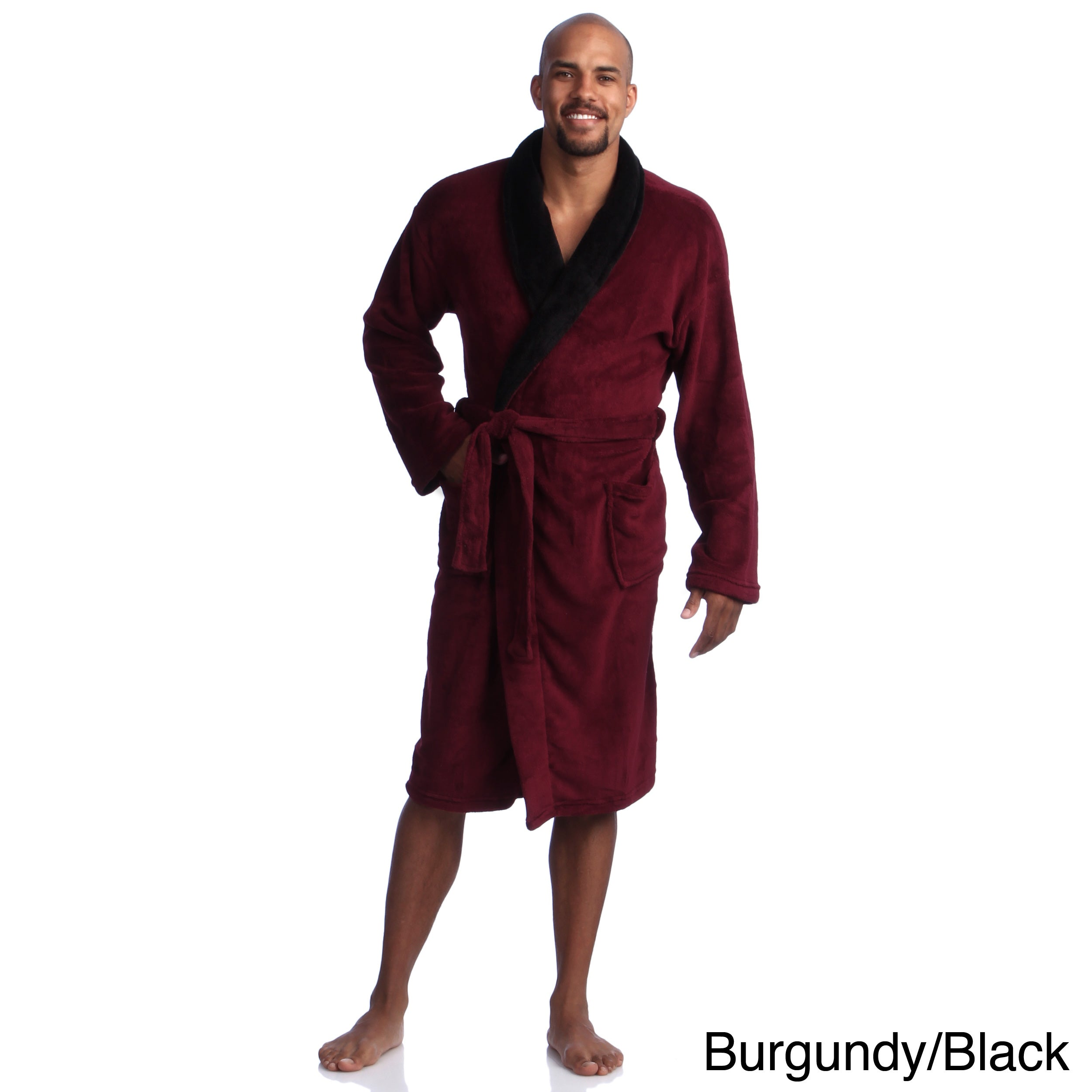5ac5a9bb16 Shop Pipeline Men s Micro Plush Bath Robe - Free Shipping Today - Overstock  - 8175808