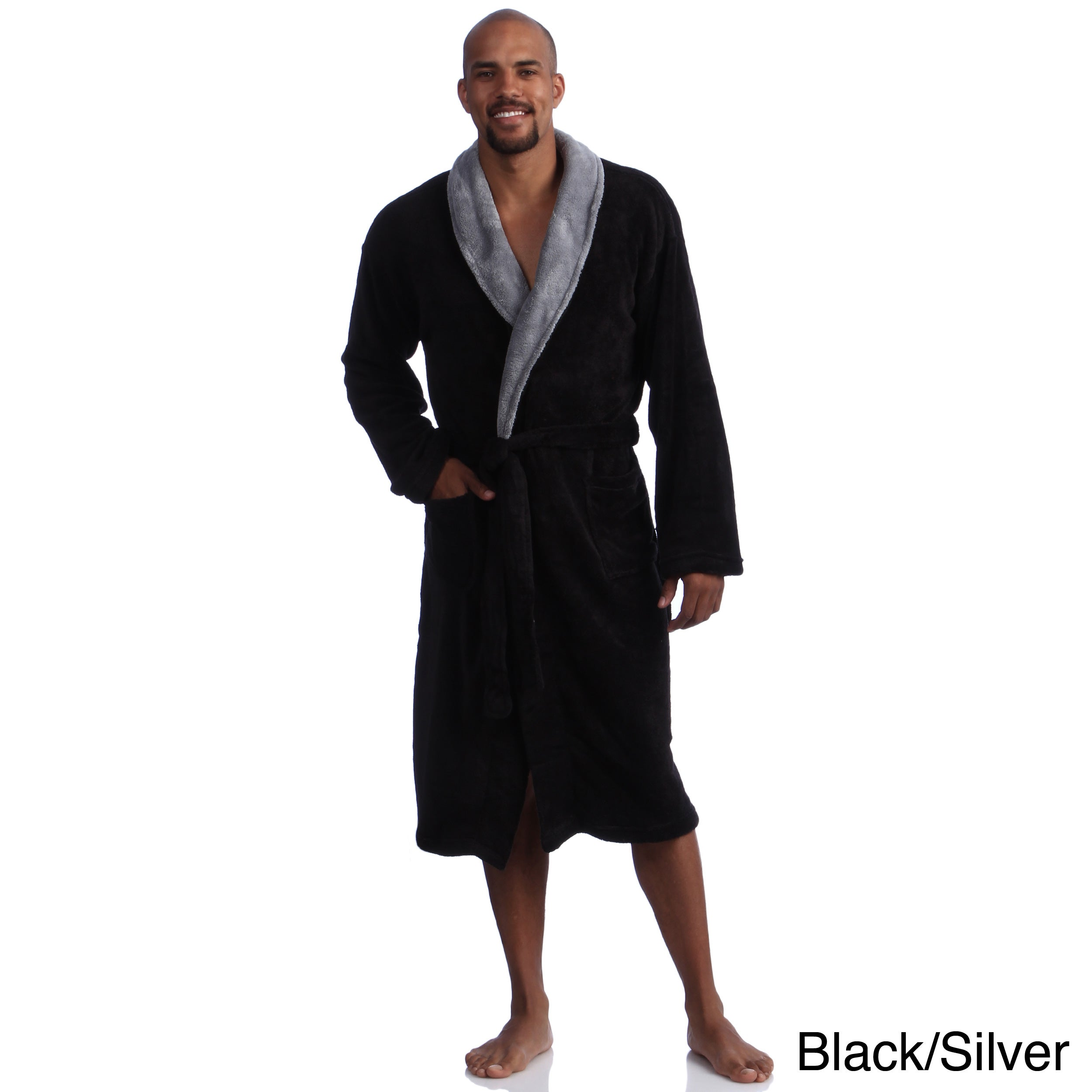 909557e680 Shop Pipeline Men s Micro Plush Bath Robe - Free Shipping Today - Overstock  - 8175808