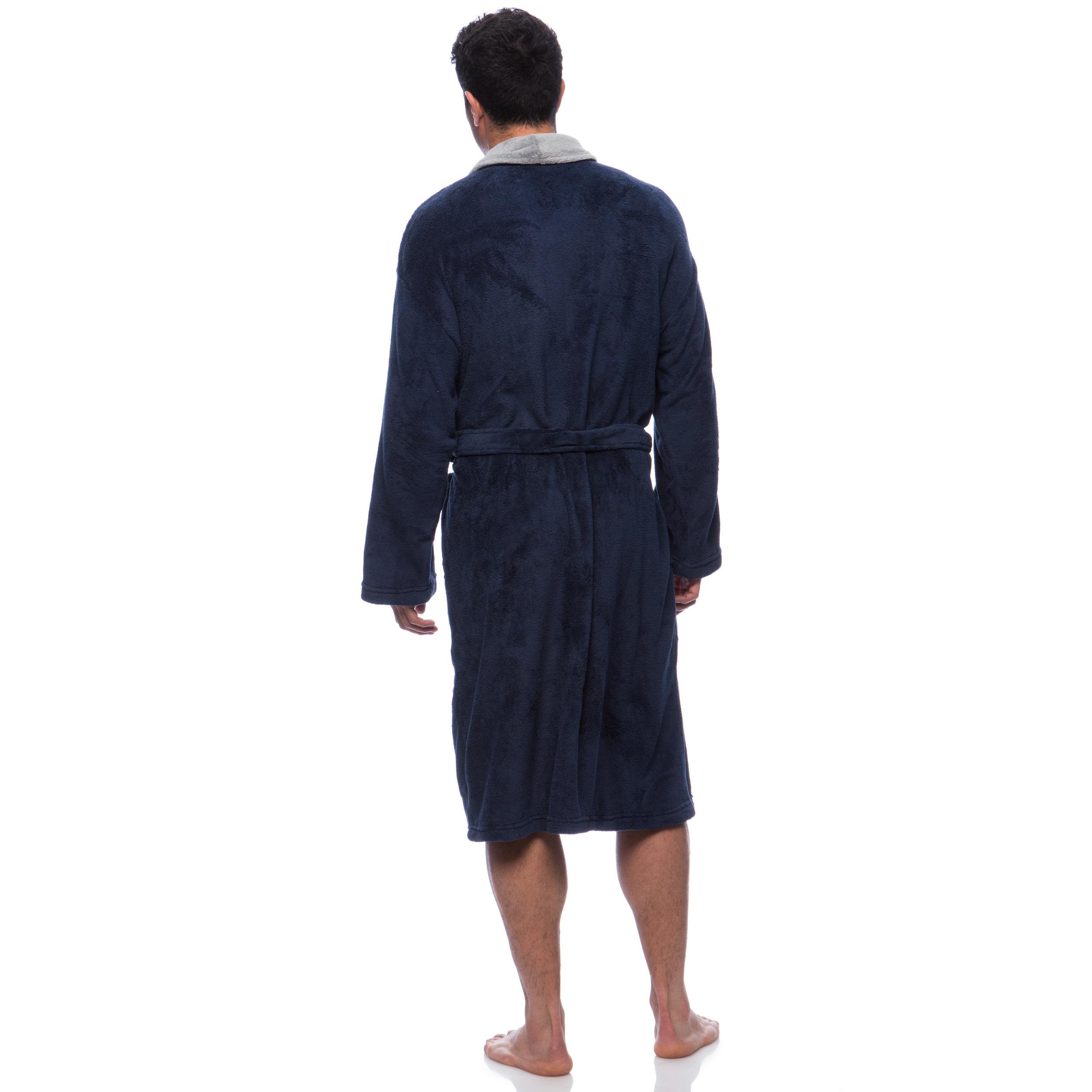 Shop Pipeline Men s Micro Plush Bath Robe - Free Shipping Today ... b16febc51
