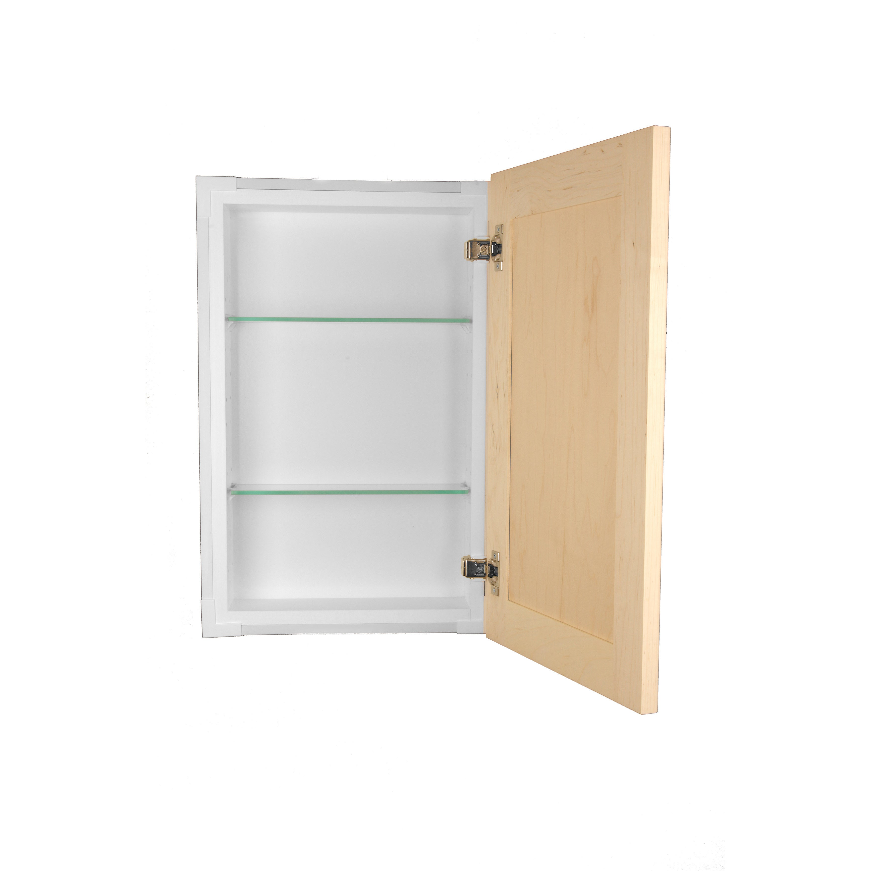 Shaker Style Frameless Recessed In Wall Bathroom Medicine Storage Cabinet Free Shipping Today 8175982