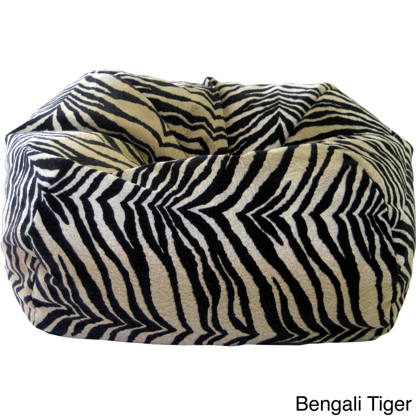 Shop XXL Safari Micro Fiber Suede Animal Print Bean Bag   Free Shipping  Today   Overstock.com   8176879