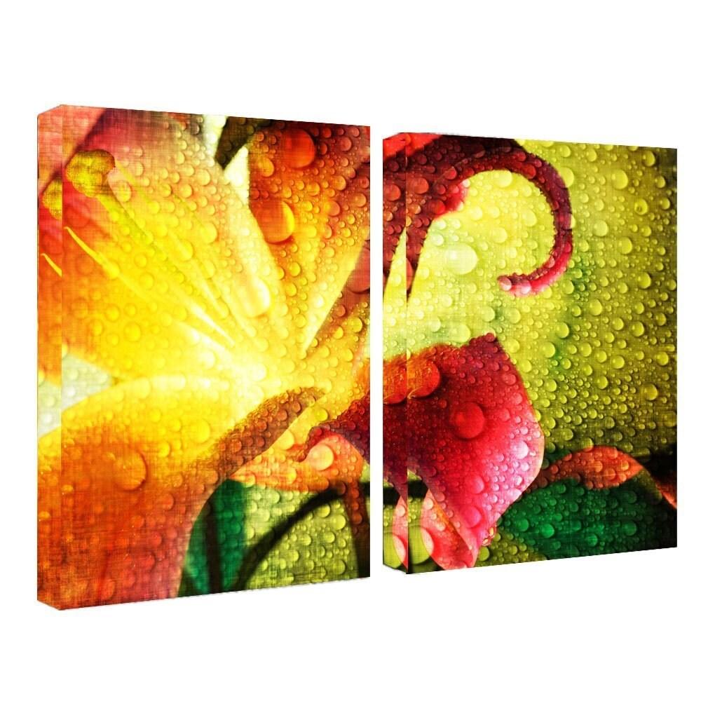 Shop Ready2HangArt \'Tropical Hibiscus\' Canvas Wall Art (2 pieces ...