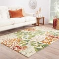 "Mariager Indoor/ Outdoor Floral Multicolor/ White Area Rug (7'6"" X 9'6"")"