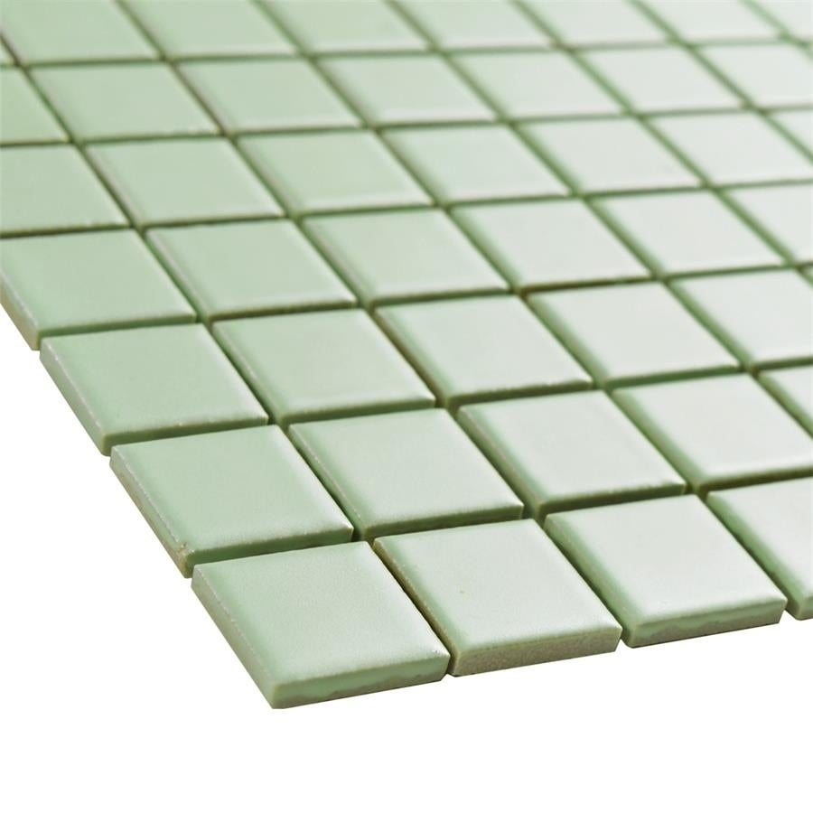 Shop SomerTile Xinch Victorian Square Matte Light Green - 8 inch square ceramic tiles