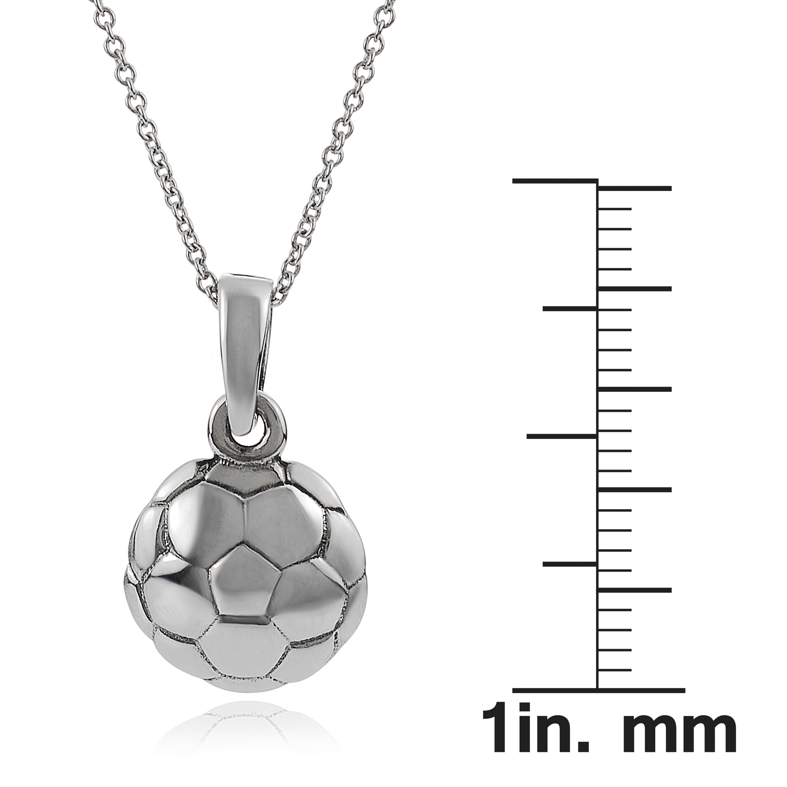 charm silver product pendant sm lariat necklace soccer neck with dangle made