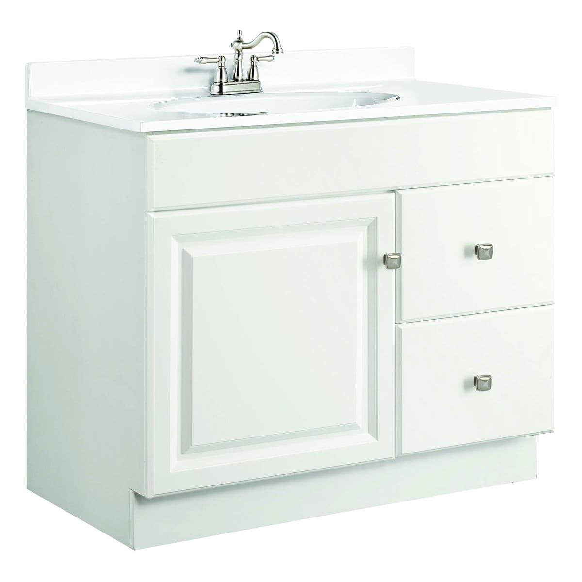 Shop Design House Wyndham White Semi-gloss Vanity Cabinet - Free ...