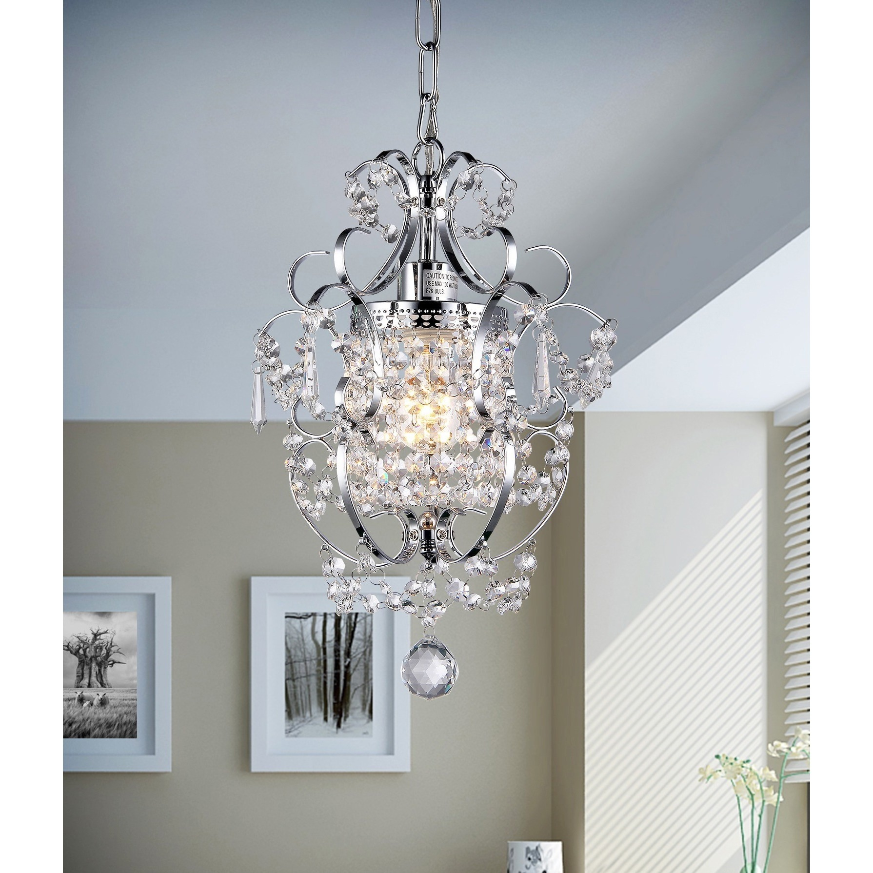 Single light Crystal Chandelier Free Shipping Today Overstock