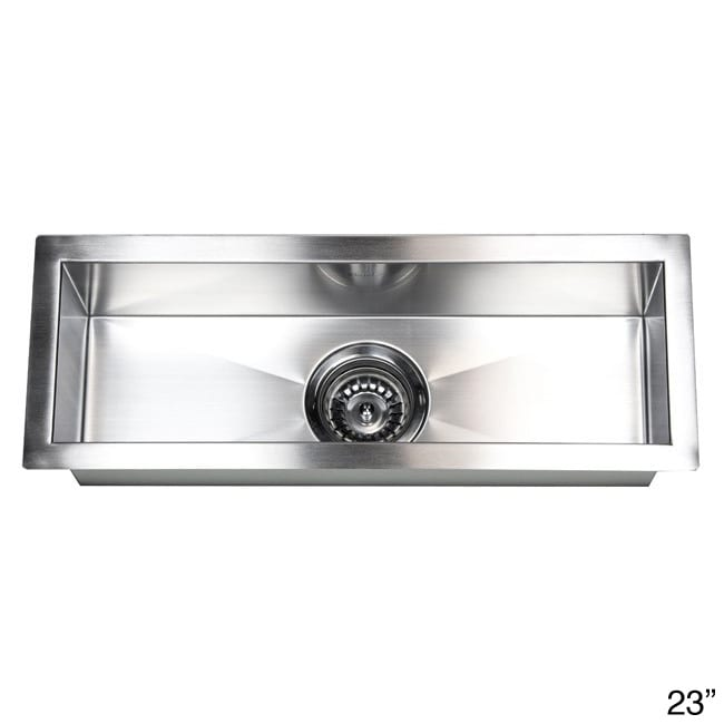 Shop Stainless Steel Undermount Kitchen Prep Bar Sink   On Sale   Free  Shipping Today   Overstock.com   8198228