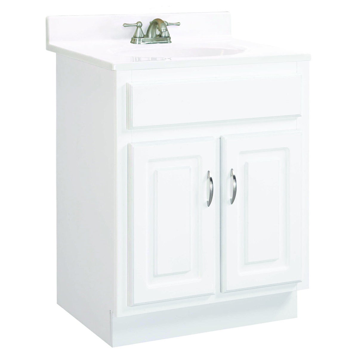 Shop Design House Concord White Gloss 2-Door Vanity Cabinet - Free ...