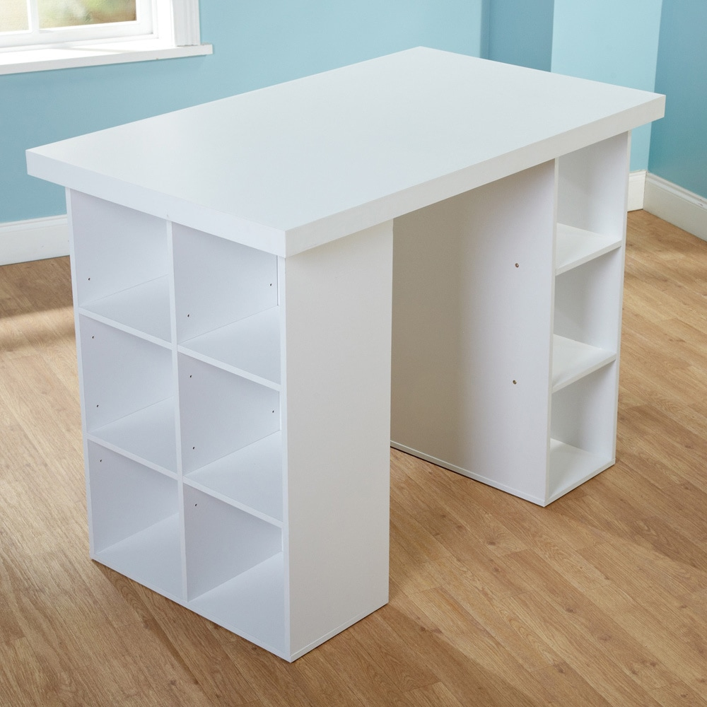 counter height craft table Shop Simple Living Counter Height Craft Desk   Free Shipping Today  counter height craft table