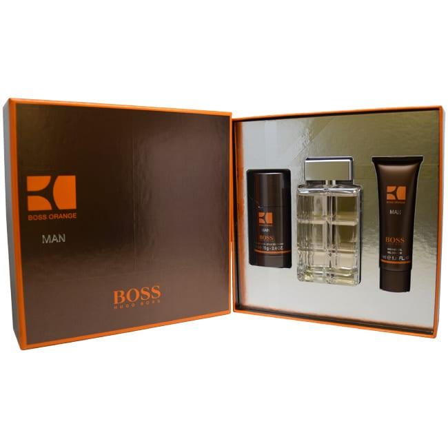 970838cb5fcd Shop Hugo Boss Orange Men s 3-piece Fragrance Gift Set - Free Shipping  Today - Overstock - 8199481