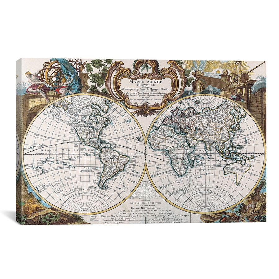 Icanvas antique double hemisphere map of the world canvas art icanvas antique double hemisphere map of the world canvas art print free shipping today overstock 15535125 gumiabroncs Gallery