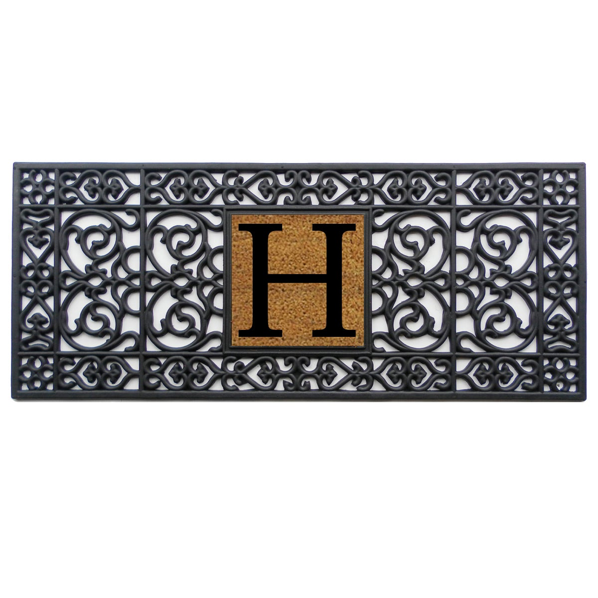 charcoal with matting mats speckled rubber barrier backed entrance door mat collections products runners grey black