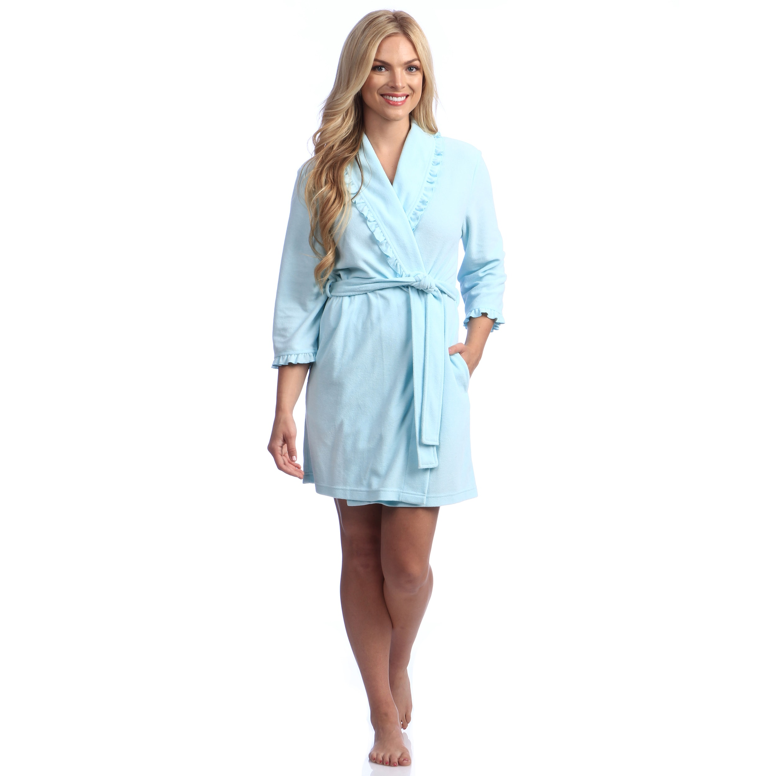 037ceb68a1 Shop Women s Pique Terry 36-inch Shawl Robe - Free Shipping On Orders Over   45 - Overstock - 8201886