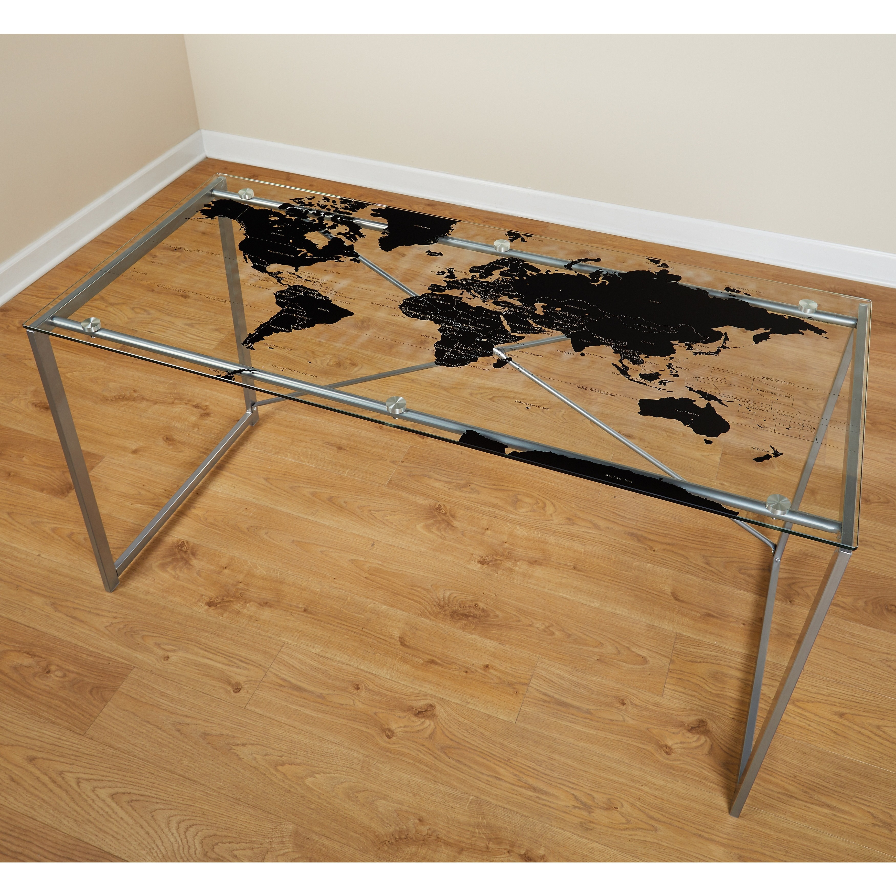 simple living world map desk free shipping today overstock 15535788